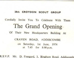 The grand opening in 1974