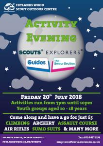 Frylands Activity Evening @ Frylands Wood Scout Outdoor Centre | United Kingdom