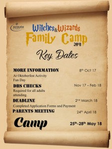 Family Camp - Key Dates Poster